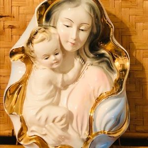 Easter Madonna & Child Ceramic Wall Hanging